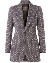 Roberto Cavalli - Woven Wool Blazer - Lyst