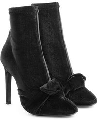 Giuseppe Zanotti - Velvet Stiletto Boots - Lyst