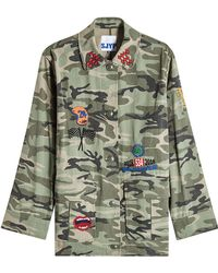 SJYP - Military Patch Camouflage Cotton Jacket - Lyst