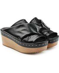 Rick Owens - Embellished Leather Wedges - Lyst
