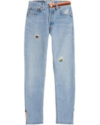 RE/DONE - Straight Skinny Jeans - Lyst