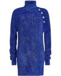 Balmain - Turtleneck Pullover With Embossed Buttons - Lyst