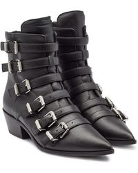 Zadig & Voltaire - Libra Leather Ankle Boots - Lyst