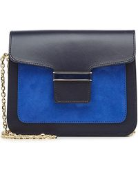 Vanessa Seward - Leather Shoulder Bag With Suede - Lyst