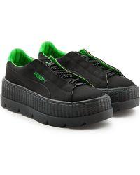 f544e200f0bcbc PUMA - Fenty X Puma Cleated Creeper Sneaker Black-green Gecko - Lyst