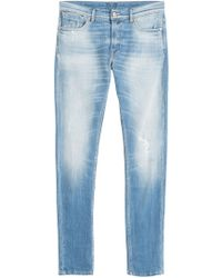 7 For All Mankind - Distressed Slim Leg Jeans - Lyst