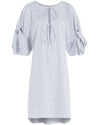 Three Graces London - Striped Cotton Nightgown - Lyst
