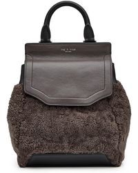 Rag & Bone - Small Pilot Backpack In Leather And Shearling - Lyst