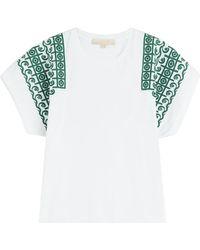 Vanessa Bruno - Embroidered Cotton Top - Lyst