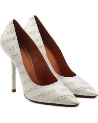 Vetements - Perforated Logo Leather Pumps - Lyst