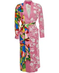 Mary Katrantzou - Merlin Printed Coat With Embroidery - Lyst