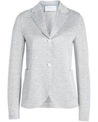 Harris Wharf London - Cropped Boyfriend Blazer In Linen And Cotton - Lyst