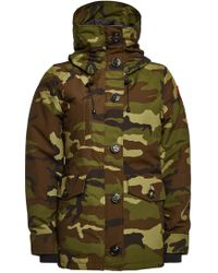 Canada Goose - Rideau Printed Down Parka With Cotton - Lyst