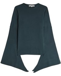 Tibi - Tied Sleeve Merino Wool Pullover - Lyst