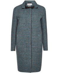 Closed - Lori Checked Virgin Wool Coat - Lyst
