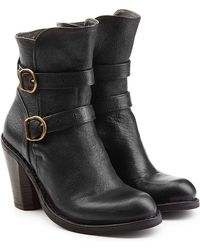 Fiorentini + Baker - Leather Double Strap Ankle Boots - Lyst