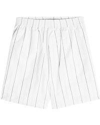 Stella McCartney - Striped Cotton Shorts - Lyst