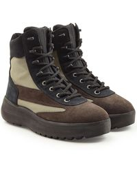 Yeezy - Suede Military Boots - Lyst