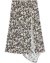 Proenza Schouler - Printed Silk Skirt With Pleats - Lyst