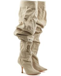 Y. Project - Draped Cotton Boots - Lyst