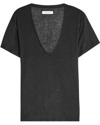 Anine Bing - Silk T-shirt - Lyst