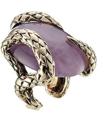 Roberto Cavalli | Statement Ring With Semi-precious Stone | Lyst