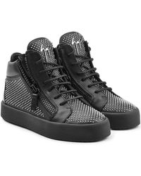 Giuseppe Zanotti - Stud Embellished Leather Sneakers - Lyst