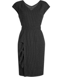 66165fcc783 Boutique Moschino - Virgin Wool Dress With Pinstripes - Lyst