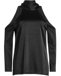 Galvan London - Satin Blouse With Cut Out Shoulders - Lyst