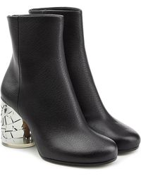 Maison Margiela - Leather Ankle Boots With Statement Heel - Lyst