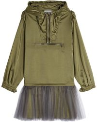 Moschino - Anorak Dress With Tulle - Lyst