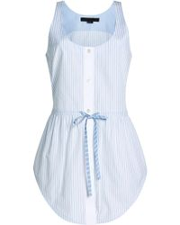 Alexander Wang - Cotton Top With Drawstring Tie - Lyst