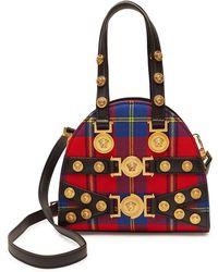Versace - Tribute Tartan Leather Handbag - Lyst