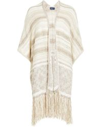 Polo Ralph Lauren - Fringed Cardigan With Cotton, Silk And Linen - Lyst