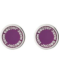 Marc Jacobs - Logo Disc Stud Earrings - Lyst