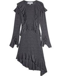 Lyst - Robe-débardeur mi-longue à détail froncé Iro en coloris Noir 93e63fcf7519