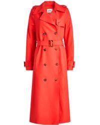 Khaite - Cornelia Cotton Trench Coat - Lyst