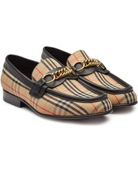 Burberry - Moorley Leather Loafers - Lyst