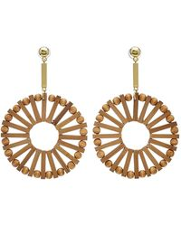 Cult Gaia - Eva Bamboo Earrings - Lyst