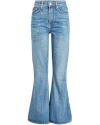 Brock Collection - Cropped Flared Jeans aus Baumwolle - Lyst