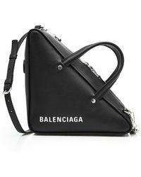 Balenciaga - Triangle Duffle Leather Shoulder Bag - Lyst