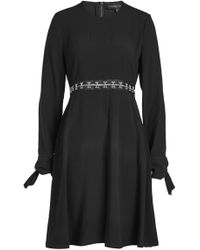 Proenza Schouler - Crepe Dress With Embellished Waist - Lyst