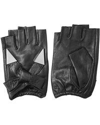Karl Lagerfeld - Fingerless Leather Gloves With Embellishment - Lyst