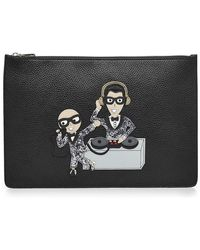 Dolce & Gabbana | Zipped Leather Pouch | Lyst