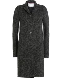 Harris Wharf London - Printed Virgin Wool Coat - Lyst