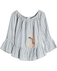 Christophe Sauvat - Embroidered Cotton Blouse - Lyst