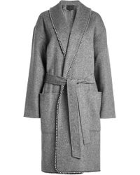Alexander Wang - Coat With Wool And Bead Embellishment - Lyst