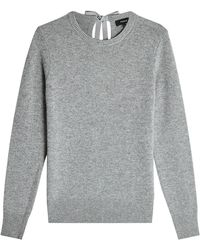 Theory - Cashmere Pullover With Self-tie Bow - Lyst