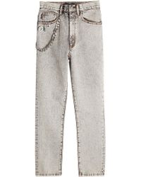 Marc Jacobs   Bleached Straight Denim   Lyst