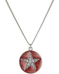Marc Jacobs - Halskette Star mit Anhänger in Amulettform - Lyst